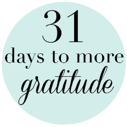 31 days to more gratitude